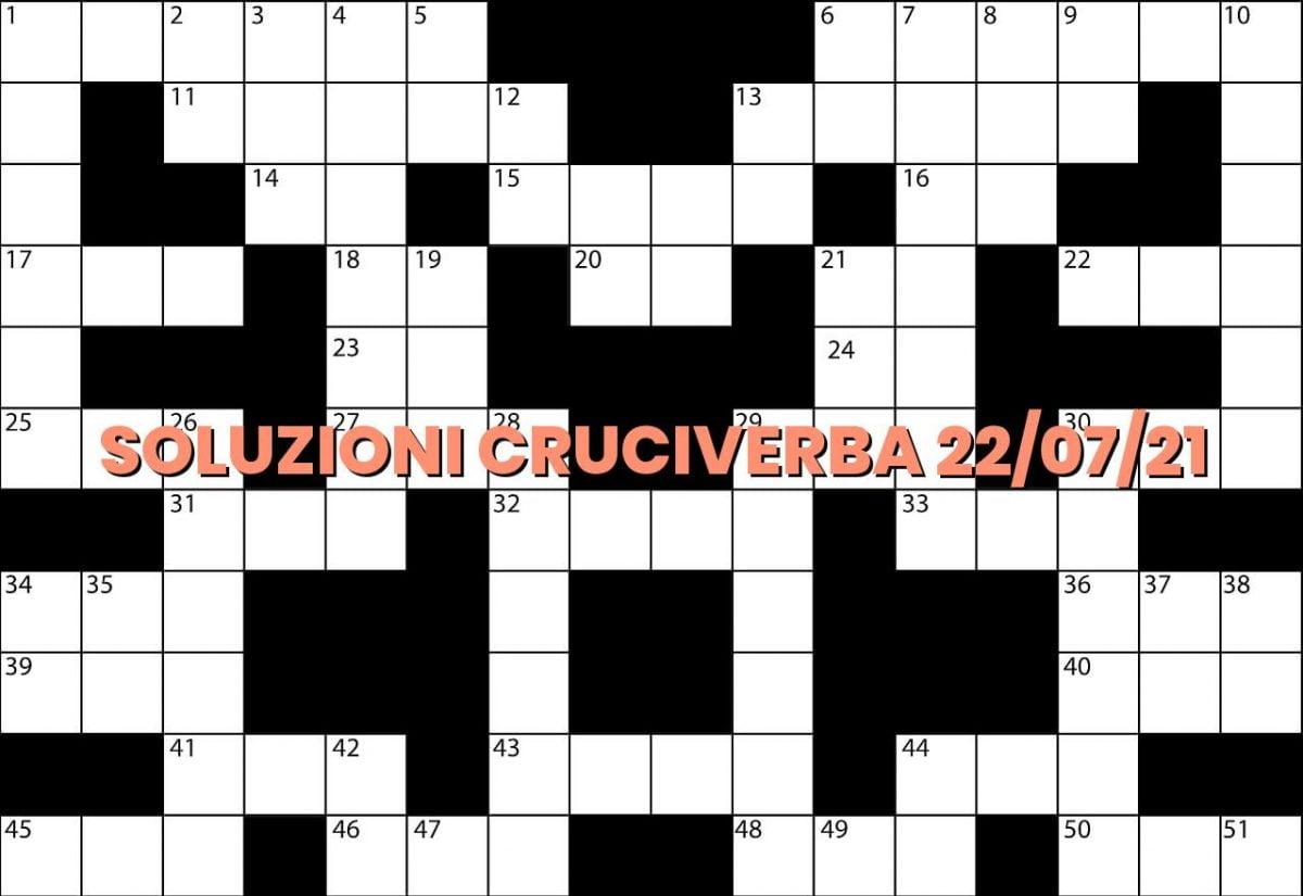 soluzioni cruciveba07 22 2021