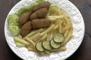 crocchette di zucchine fritte e AdobeStock 31108365
