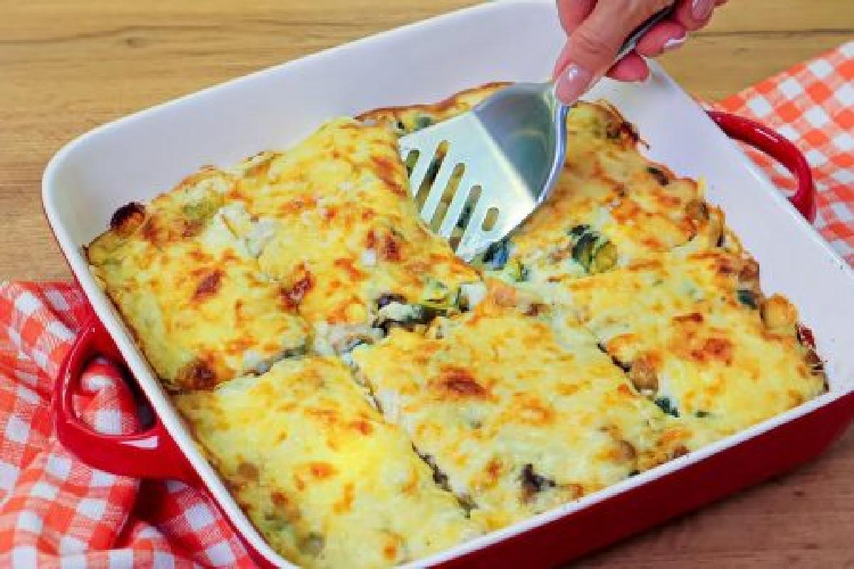 zucchine e funghi in teglia ricetta di zucchine e funghi 450x300 1