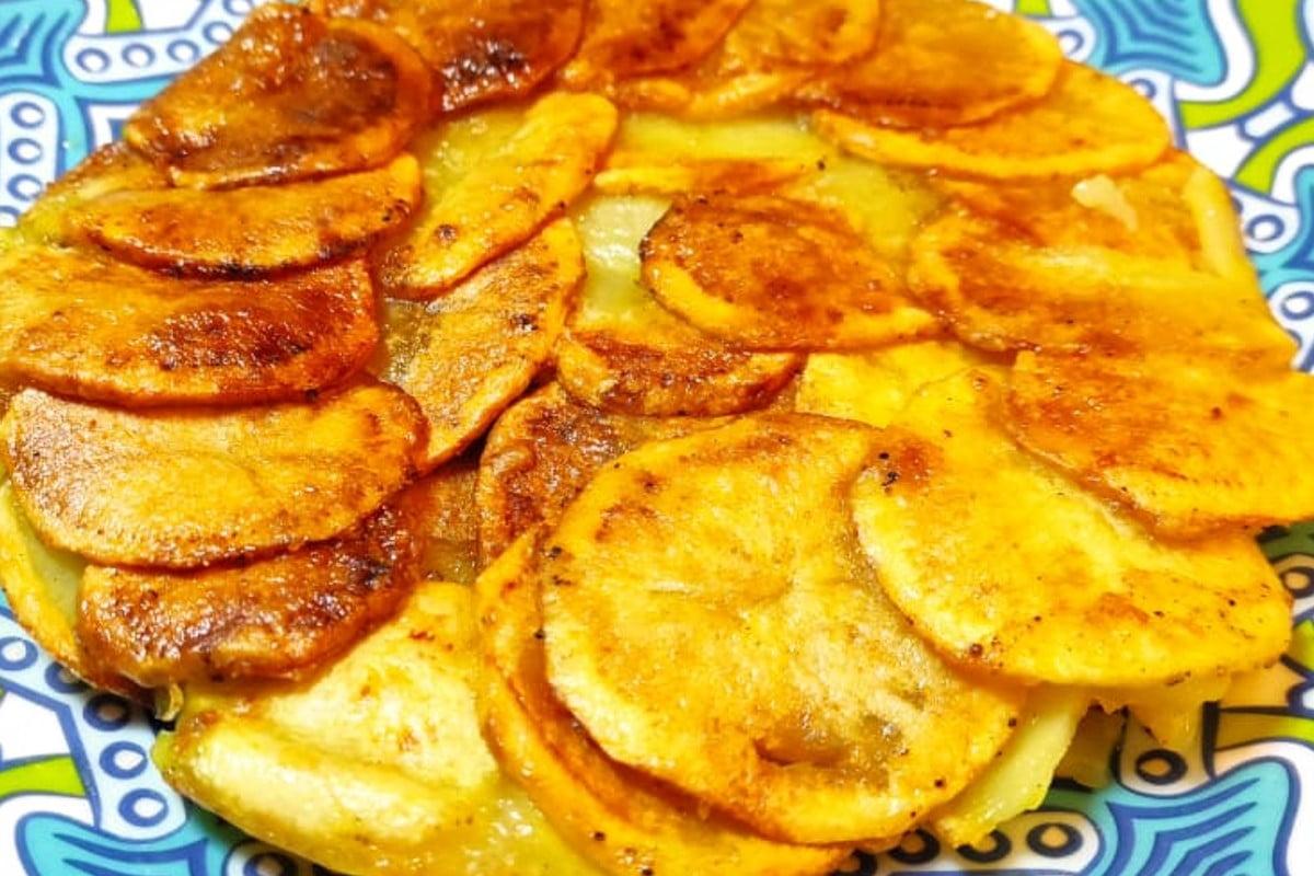 frittata di patate senza uova frittata di patate